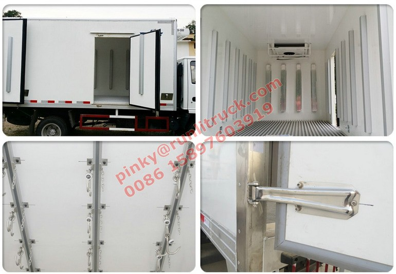 Japanese Technology Truck with Refrigerator Van 600P Freezer Truck For Meat and Fish transportation
