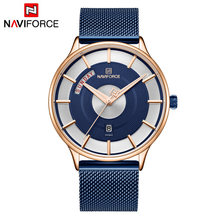 NAVIFORCE мужские часы лучший бренд класса люкс мужские повседневные деловые часы Модные Аналоговые кварцевые наручные часы с отображением дат...(China)