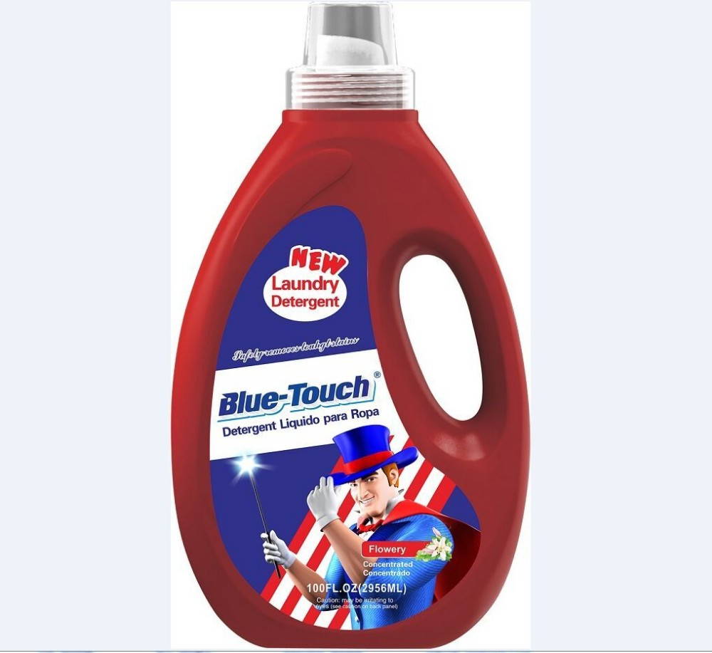 Blue-Touch brand Wholesale liquid laundry washing detergent liquid