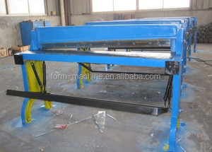 Treadle guillotine shearing machine in sheet metal industries
