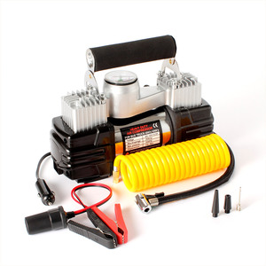 Quickly Inflate 12V Double Cylinder Car Tire Inflator Pump Air Compressor