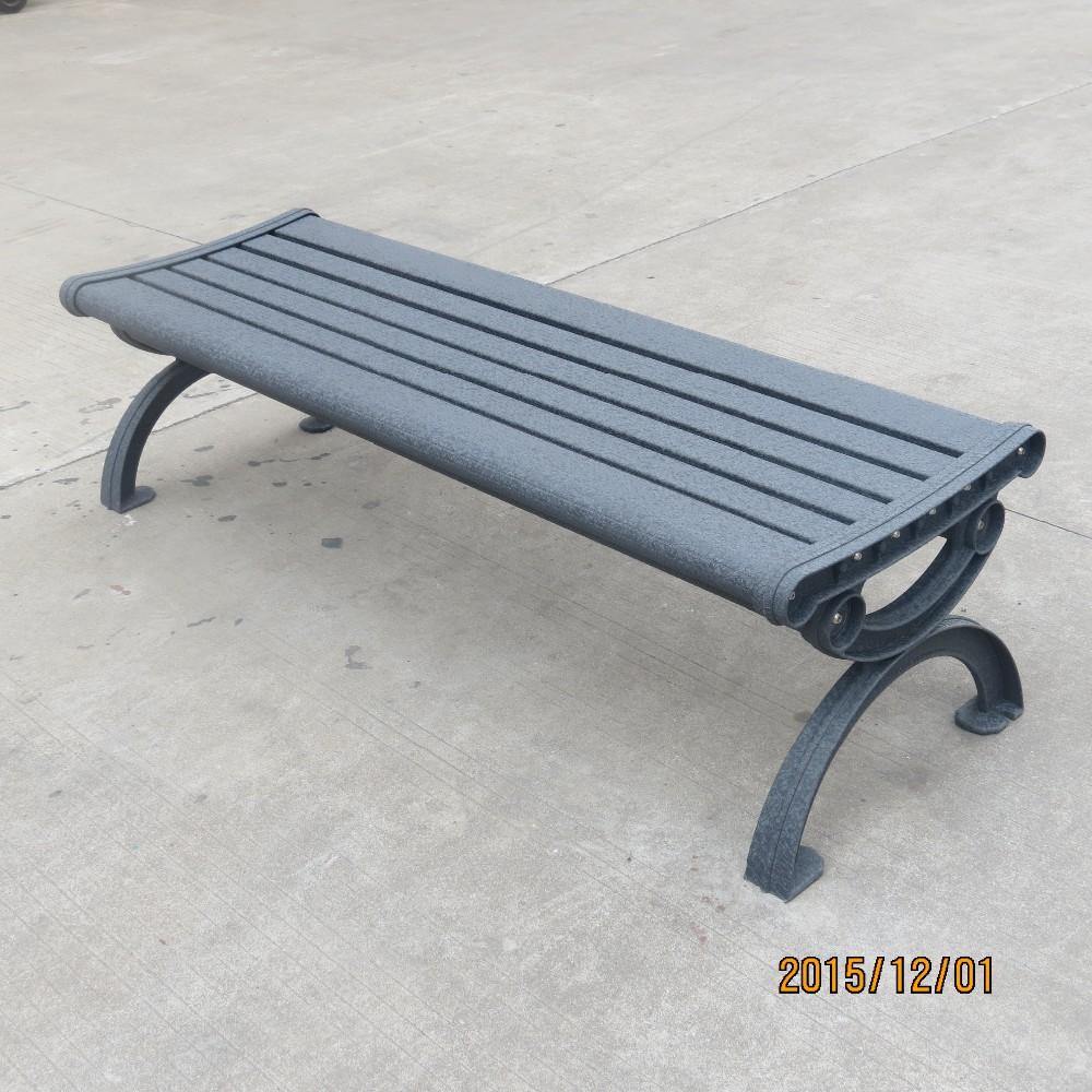 Backless Garden Bench: Outdoor Used Backless Metal Park Bench/aluminum Garden
