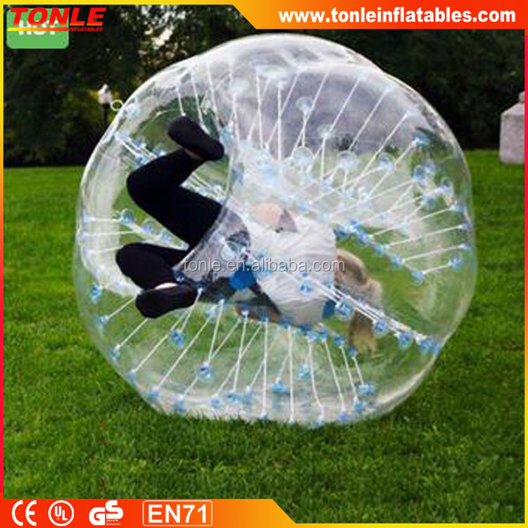 Commercial TOP inflatable Red body zorb/bubble soccer / bubble ball for football