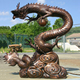 chinese metal life size dragon statue