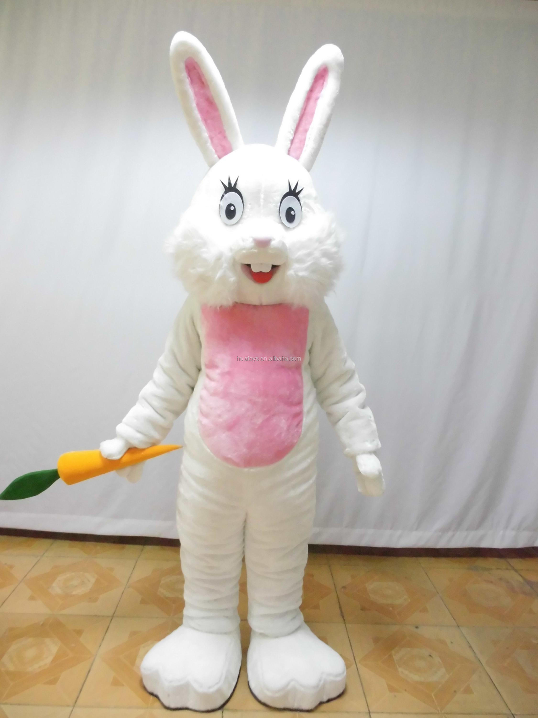 White bunny mascot costume/bunni mascot costume for sale