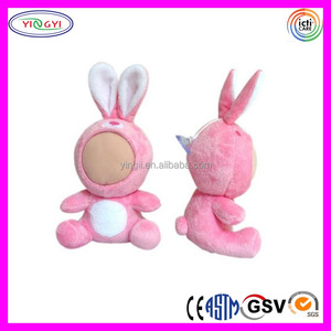 A844 Soft 3D Face Plush Doll Stuffed Animal Toy Human Face 3d Doll