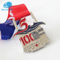 China Manufacture cheap Custom Die Casting hollow Metal endurance race sports medal with lanyard