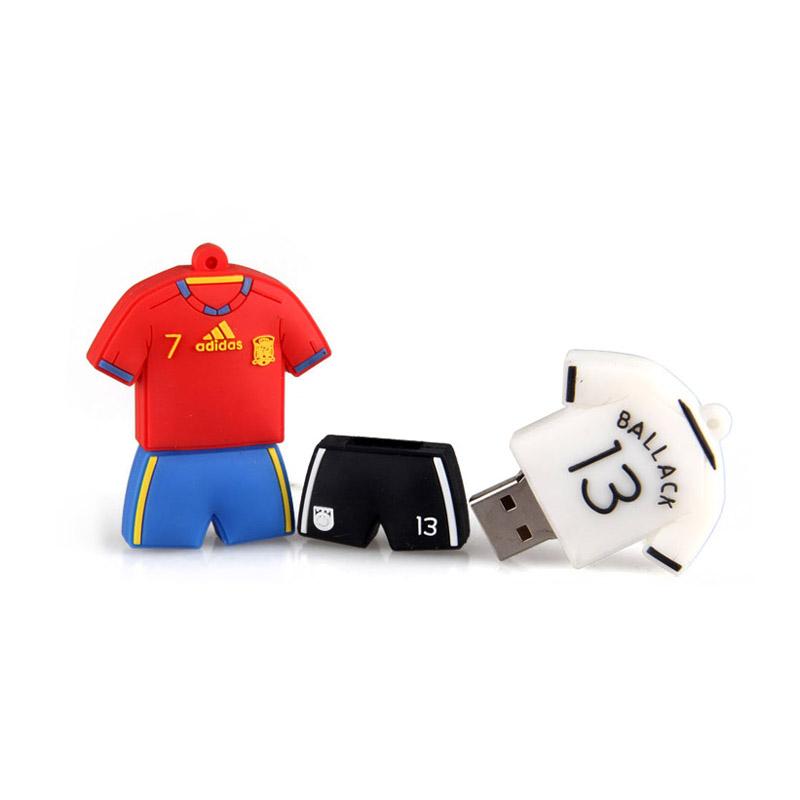 Logo Personalizzato Forma Maglia Del Pvc Regalo Aziendale Regali per Lo Sport Usb Flash Drive 32 Gb Usb 3.0 Usb di Memoria Flash Del Bastone bastone