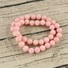 MS1002 Fashion Summer Colour Pink Semi Precious Stone Round Beads