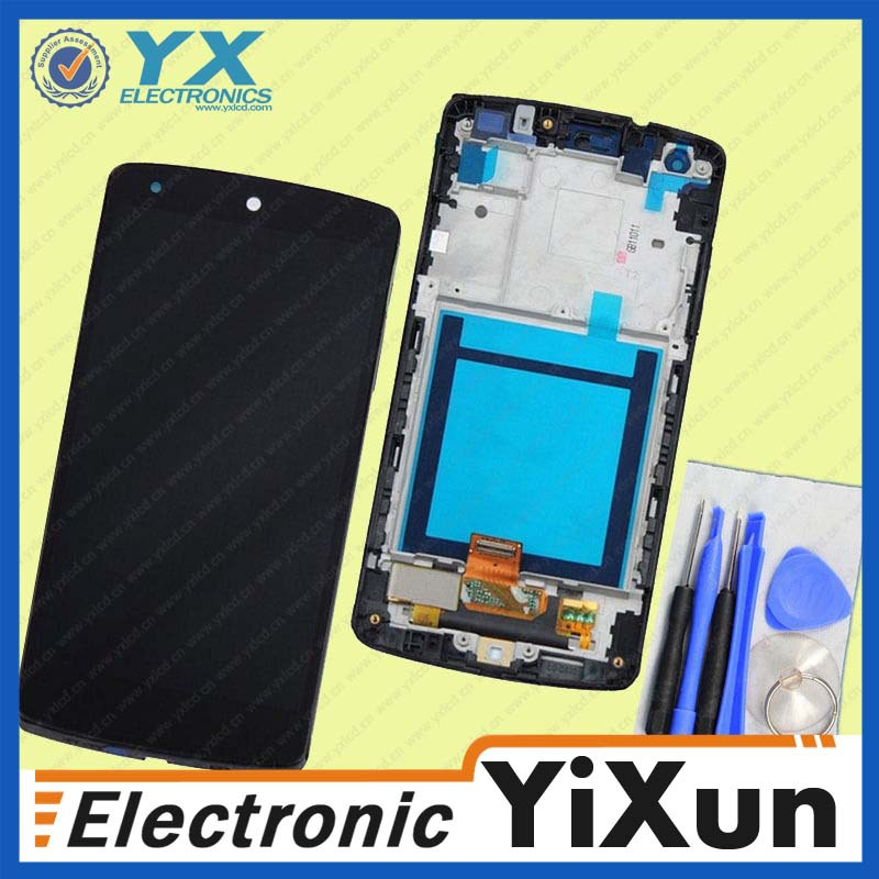 Whole sale for lg e960 touch screen, oem lcd display touch digitizer frame for lg g flex d950 d955 d958 d959 f340 ls995