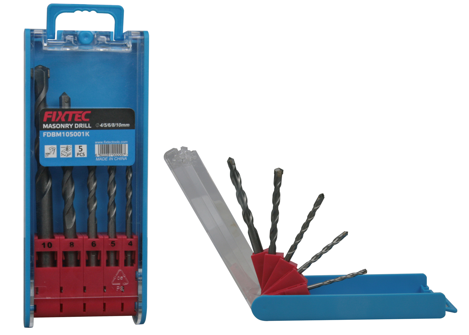 FIXTEC Power Tools Accessories Masonry Concrete Drill Bits
