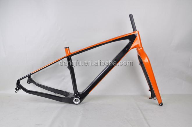 26er Snow Bike Carbon Frameset,Fat Bike Frame,17.5\