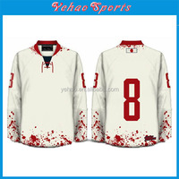custom hockey jerseys with custom Embroidered logo/Tackle Twill name and number