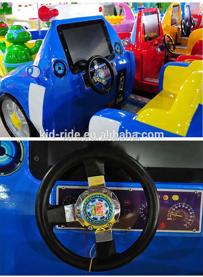 Indoor Playground  Coin Operated Swing Car Kids Rides Arcade Racing Game for Kids