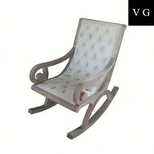 Awe Inspiring Relax Rocking Chair With Stool In Beige Colour Wring Chair Antique Wooden Chairs For Children Squirreltailoven Fun Painted Chair Ideas Images Squirreltailovenorg