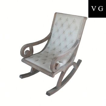 Ordinaire Relax Rocking Chair With Stool In Beige Colour,wring Chair,antique Wooden  Chairs For