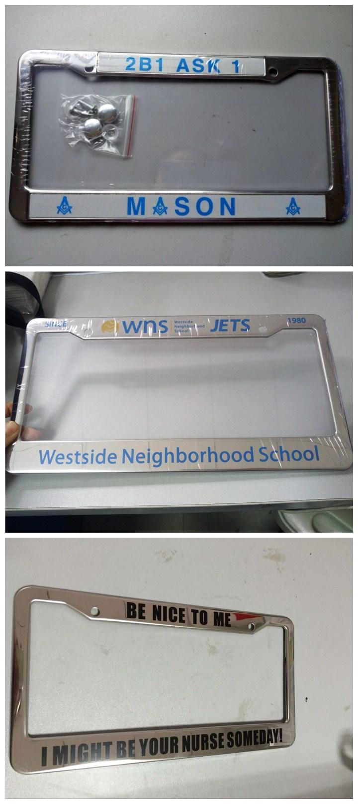 Custom Engraved Aluminum License Plate Frames Drop Shipping ...