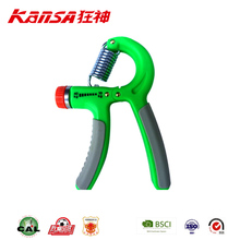 Kansa-1135 2017 Hot Sale Custom Logo Power Fitness Hand Gripper Adjustable Hand Grip