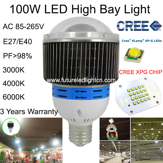 Indoor Factory Warehouse Light Led High Bay Light 60w High: 100W LED High Bay Light CREE Factory Lamp Led Industrial