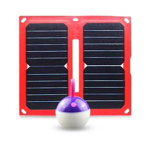 14W mini solar charger LED light solar cell phone charger