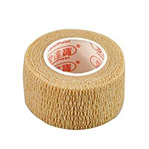Pack of 3 Rolls Waterproof Self Adhesive Bandage Tape Finger Joints Wrap Sports Care (1inch*6yds, Skin)