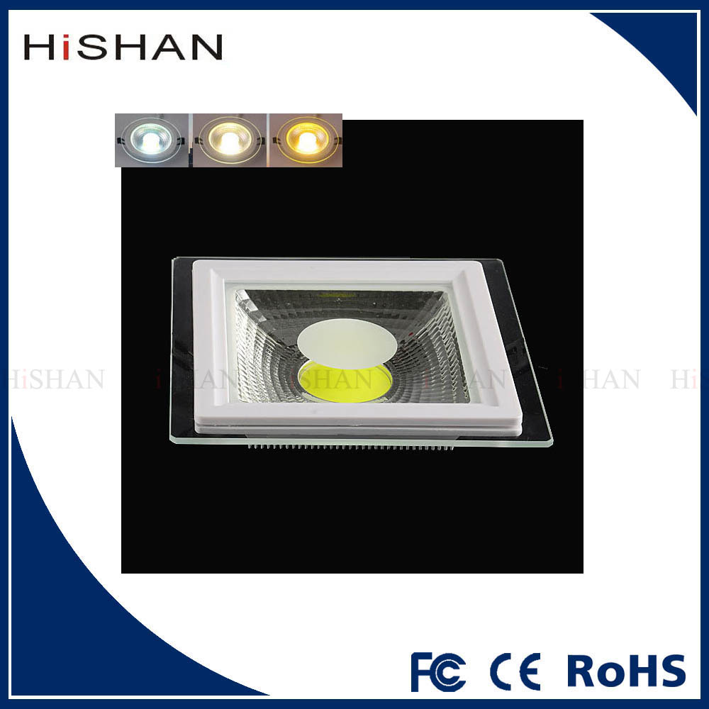 5W 10W 15W Square Down Light for Home Indoor Hotel Decor Slim Glass Lamp Recessed LED COB Panel Lights
