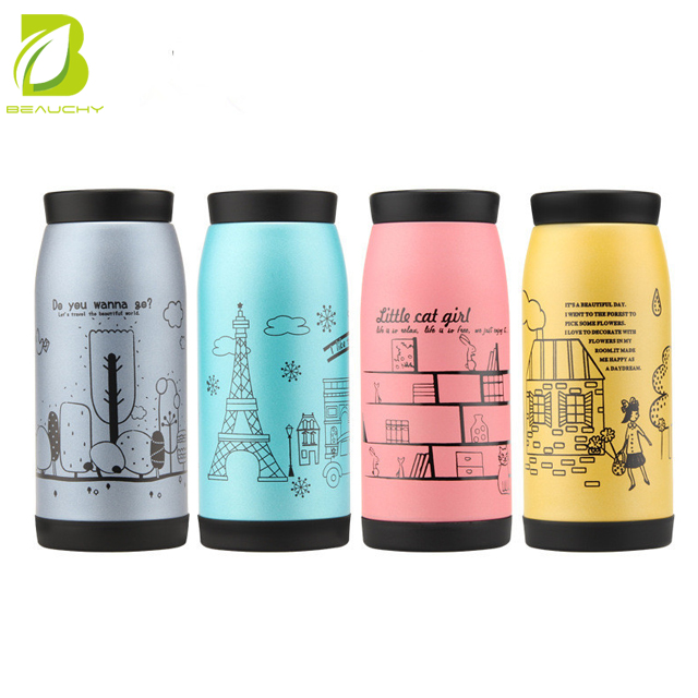 Wholesale Korean pretty girl Insulation Cup Stainless Steel Belly Cup Children's Gift Cup