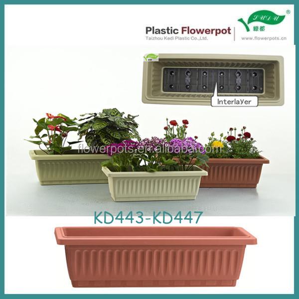 Kd443 kd447 plastica fioriere rettangolari buy outdoor for Fioriere rettangolari in plastica