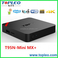 4k2k H.265 Hardware Video Decode T95N Mini MX+ Android Smart TV Player
