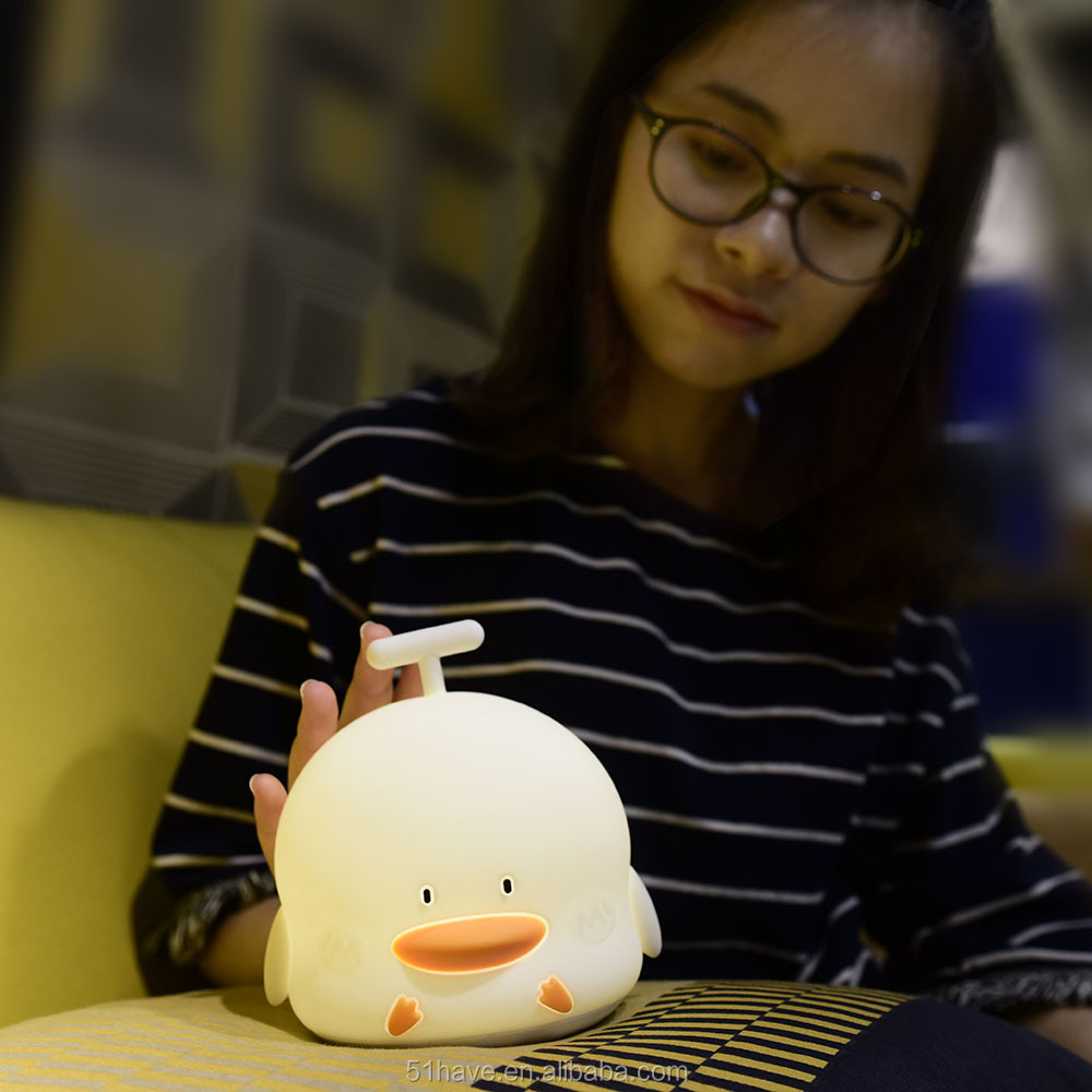 Promotion music duck Rechargable Portable Led Night Light for sale
