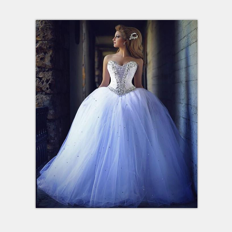 Get Quotations · 2015 Wedding Dresses with Rhinestones Vintage Ball Gown  Wedding Dresses Beaded Lace Up Sweetheart Corset Luxury 1e8358bafcd2