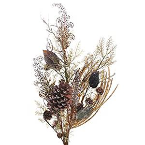 Factory Direct Craft 33 Inch Tall Icy Artificial Cedar and Twig Spray for Holiday Centerpieces and Home Decor
