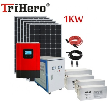 1000W off grid solar power system for 8 hours full power use