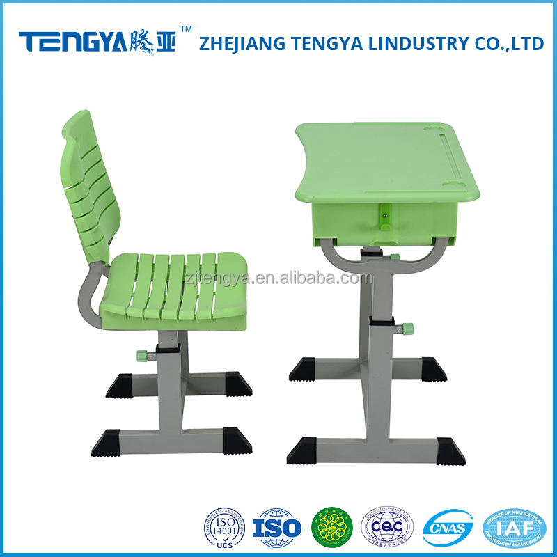High quality and low price green student use desk and chair
