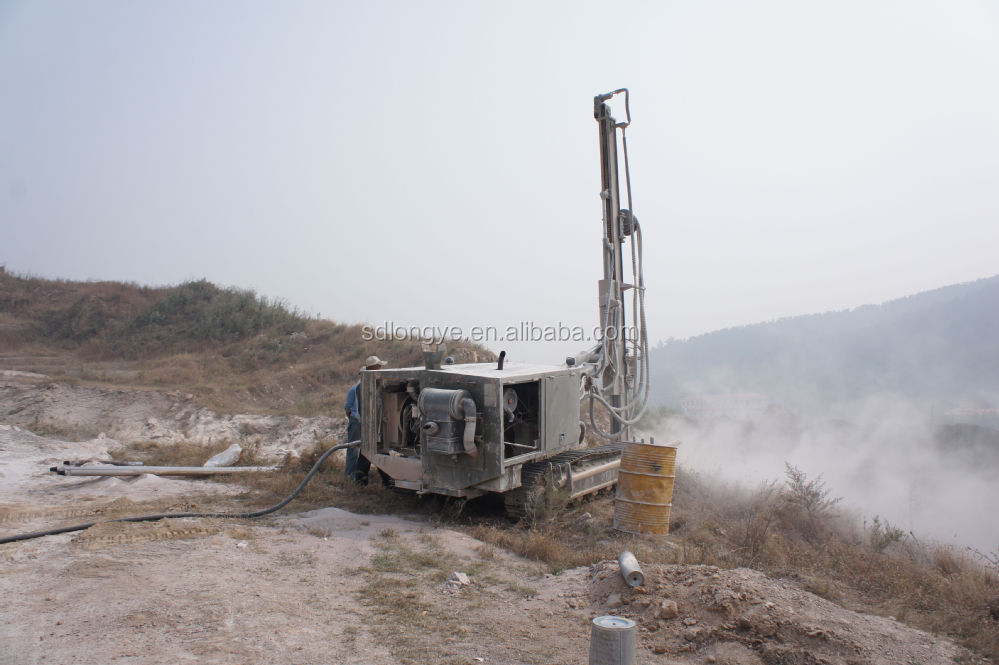 60m down-the-hole drilling rig with hydraulic driving system