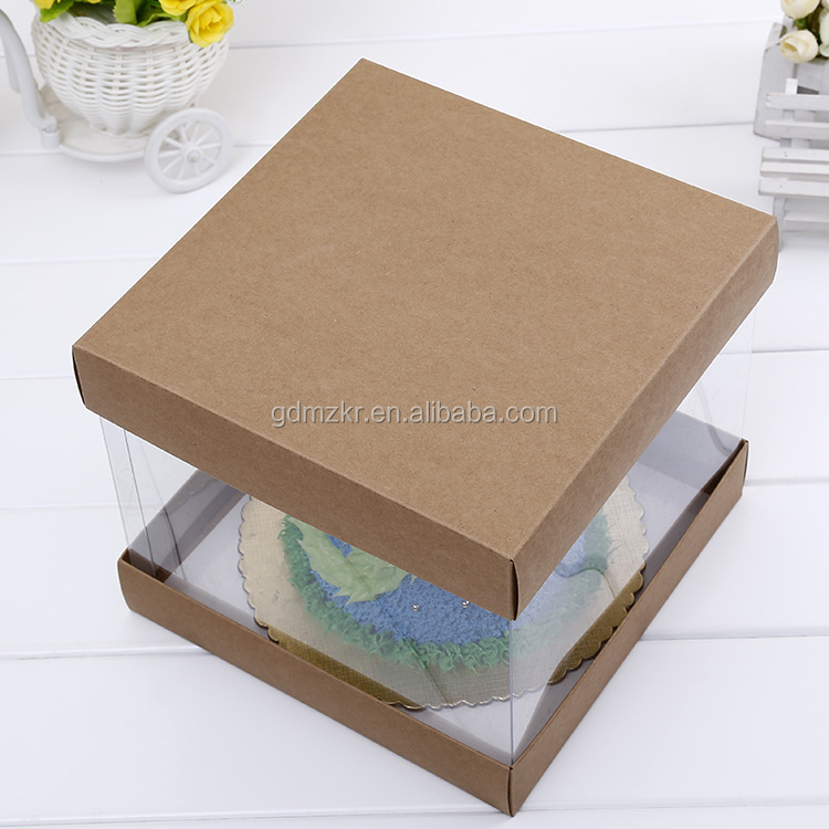 Elegant decoration packaging plastic wedding cake boxes