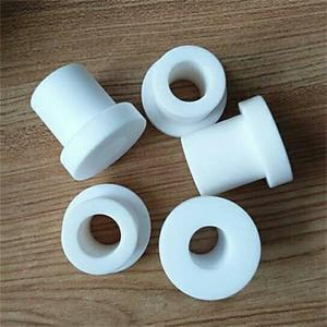 PTFE plastic bushings nylon flange sleeve bush with spiral slot high wear resistance oil POM sleeves