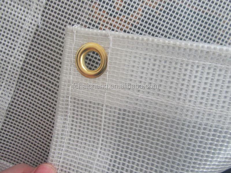 Clear Pvc Reinforced Film Pvc Material Clear Mesh