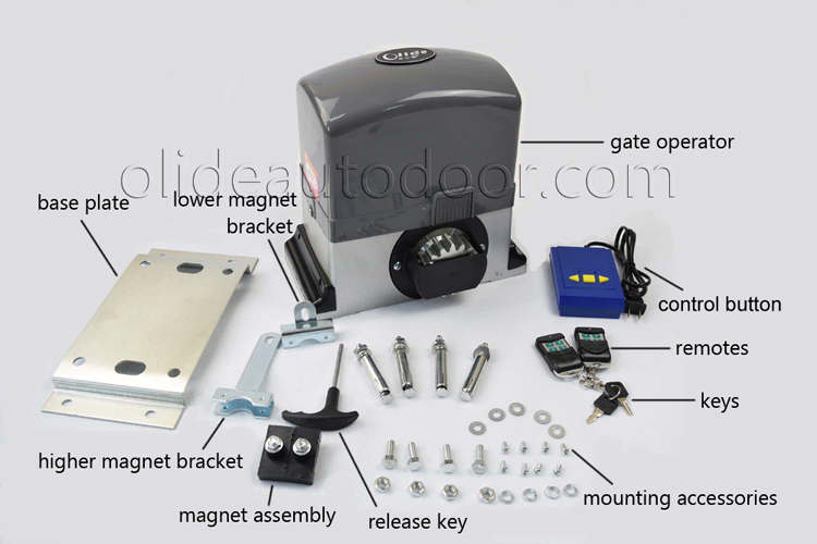 Popular best selling sliding motor electric gate motors for Best electric gate motors
