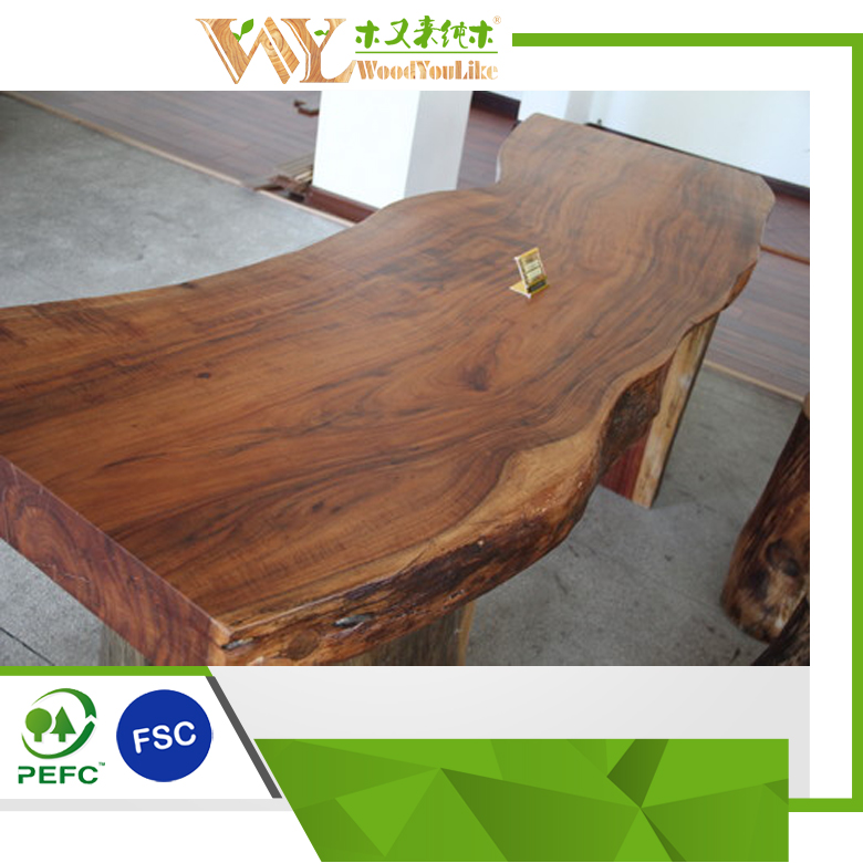 Live Edge Dining Table Acacia Wood Solid Slab Table