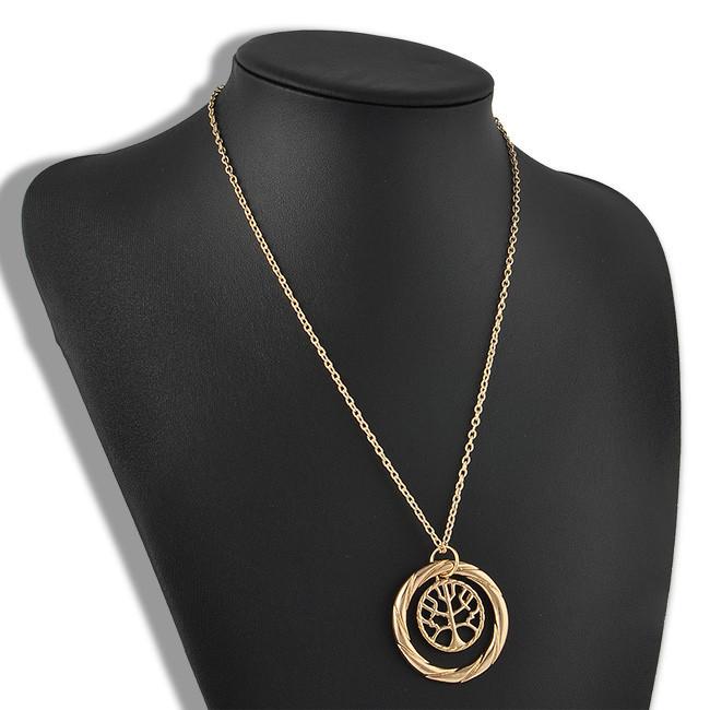 Wf Gold Divergent Tree Selfless Wisdom Pendant Necklace