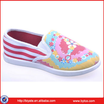 Fashion Women Injected Pvc Canvas Shoes