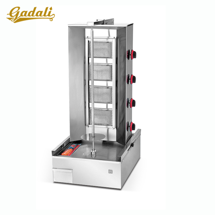 Commercial 4-burner gas chicken shawarma machine price for sale
