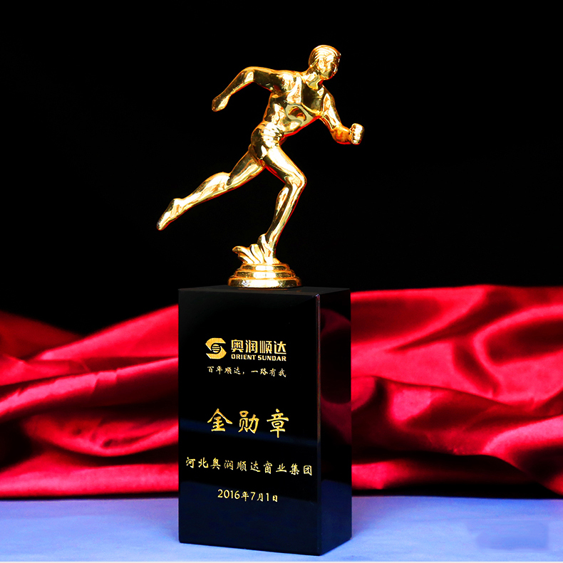 Hot sale crystal trophy with Customized
