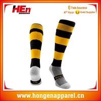 Hongen apparel wool comfortable soft cotton high quality knitting machine made rugby man socks