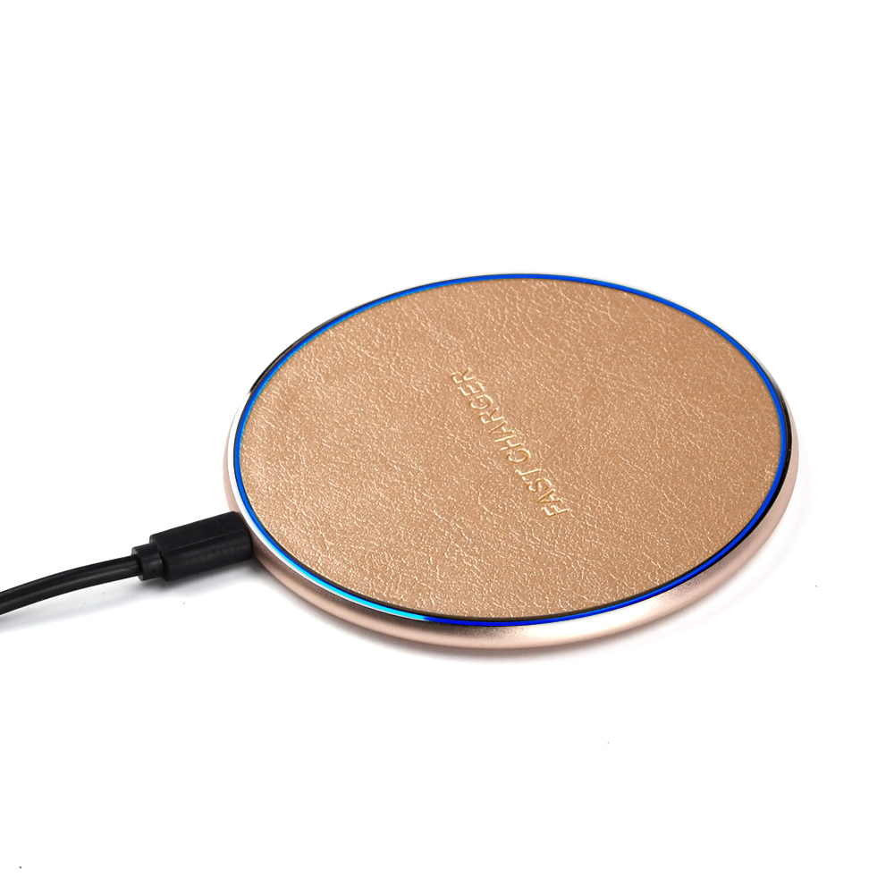 10W Round Portable Qi Fast  Mobile Phone fast Wireless Charger