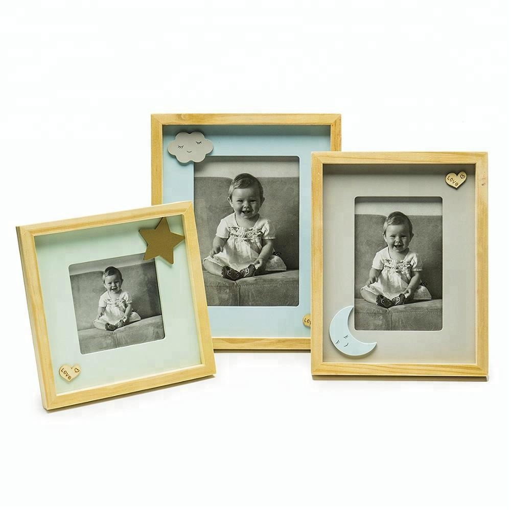 Lovely Cheap Multi White Photo Frame Set of 3 Baby Picture Frame