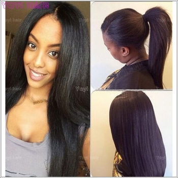 Instock Ponytail Hair Extension For Black Women Fashion Yaki Hairpiece