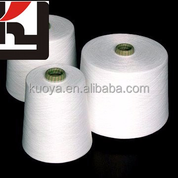 factory supply 30s Raw White 100 perent Polyester Spun woven Yarn