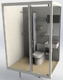 Steel frame ready made prefab Shower room with toilet